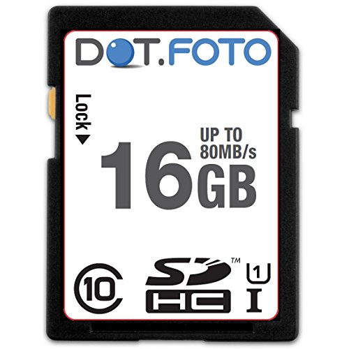 Dot.Foto Extreme SDHC 16Gb Class 10 UHS-1 (bis 80MB/s Lesen) Speicherkarte für Panasonic Lumix DMC-TZ Modelle [Siehe Beschreibung für die Kompatibilität] 80 S Dot
