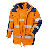 teXXor Warnschutz-Parka Toronto wasserdichte, winddichte Arbeitsjacke, M, orange, 4109