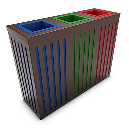 poubelledirect Pattumiera per raccolta differenziata di design 30 ...