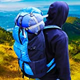 #6: Biggfoot Bonfire 50 Litres Rucksack for Travelling, Trekking, Camping, Backpack for Adults- Men and Women in Blue