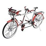 perfeclan 1/10 Giocattolo per Bicicletta in Tandem Realistico in Miniatura Gioco di Immaginazione per Ragazze