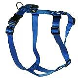 Hundegeschirr - Nylonband, Unifarben Blau, Bauchumfang 40-60 cm, 15 mm Bandbreite
