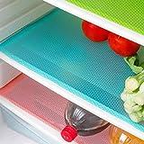 Meihet Antibakterielle Kühlschrankmatten Matten entziehen Feuchtigkeit und Gerüch rutschfest,abwaschbar und zuschneidbar Kühlschrank Matte 29 x 45 cm