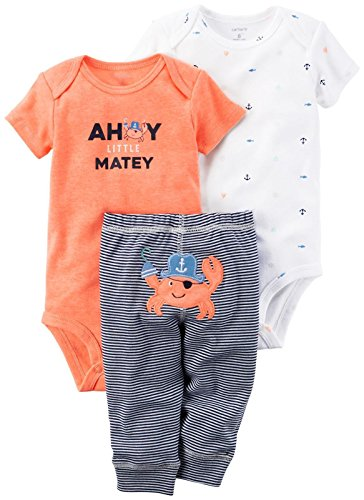 Carter's 3-Teiliges Mix 'N Match Baby/Kleinkind Boys Bodysuit & Pant Set (6 Monate) (Mix Boys)
