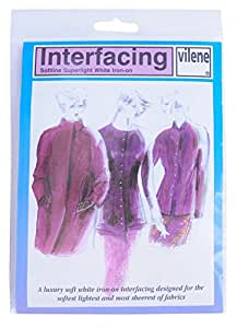 Vilene Iron-on Superlight Interfacing White 50cm x 90cm