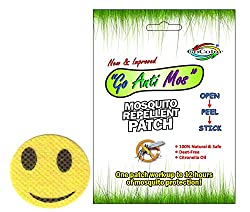 GoColor Anti Mosquito Repellent Patch Smiley With Natural Citronella Oil ( 36 Stickers )