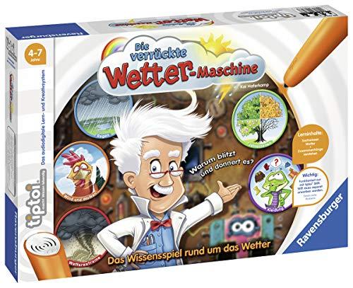Ravensburger tiptoi Die verrückte Wetter-Maschine Spiel, ab 4 Jahren, Lerne mit Professor Donnerhagel alles über das Wetter