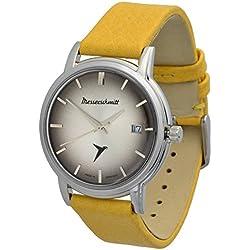 Messerschmitt KR 200-CG Automotive Cult Swiss Ronda 515movement Stainless Steel Leather Watch