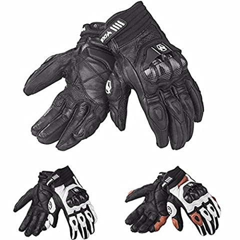 Men Leather Gloves Motocross Riding Full Finger Windproof pour Duhan T1