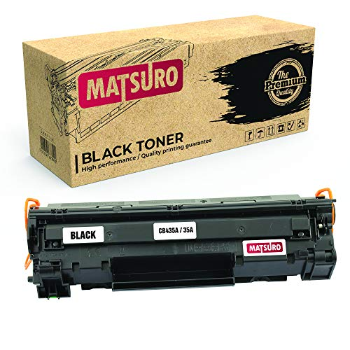 Matsuro Original | Kompatibel Tonerkartusche Ersatz für HP CB435A 35A (1 SCHWARZ) (Hp-drucker-tinten-35a)