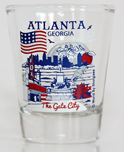 Atlanta Géorgie Great American villes verre à shooter de Collection