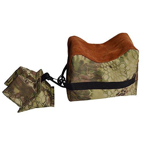 Vorderschaftauflage,Vorne & Hinten Gewehrauflage,Waffenauflage,Schießauflage Set für Gewehr/Luftgewehr Outdoor Üben (Braun Camouflage)