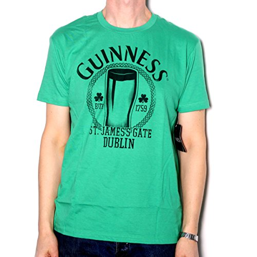 Guiness T Shirt - St James Gate Beer Glass Logo 100% Official US Import Fully Licensed With Tags