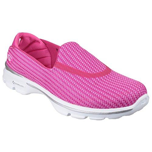 Skechers  Go Walk 3, Sneakers Basses femme Bleu marine/Blanc