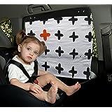 Simply Good Car Sunshade Parasol Infantil Para Coche Tamaño Universal Protección UV 100 % de Algodón (Mama Plus)