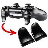 eXtremeRate 2 Paar PS4 Trigger Tasten L2 + R2 Buttons Schultertasten Ersatzteile Zubehör Set für Playstation 4 PS4 Dualshock 4 JDM-001/011/040/050/055 Controller - Schwarz