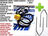 G.M. Production 191G XP + Schlüssel BLK–Kabel AUX Mp3Autoradio-Serie Blaupunkt auf Alfa Fiat Lancia mit Stecker Panel–No Blue & Me–nur mit AUX auf Display erhältlich–mit Schlüssel zur Auslösung mit [Fotos und Angaben zur Kompatibilität beachten]