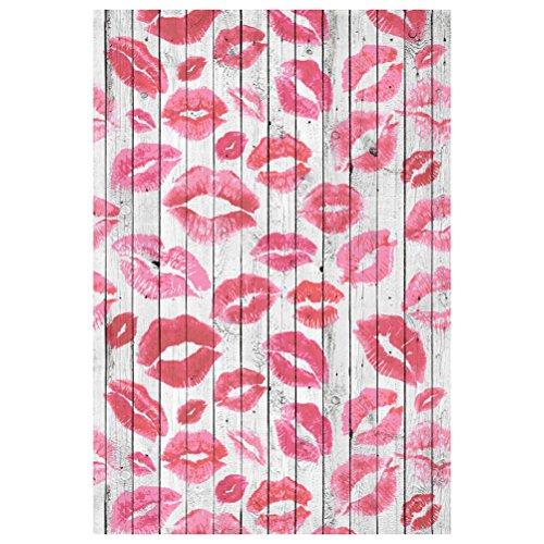 LEDMOMO Photographie Décors 100 x 150cm Lèvres rouges Photo Studio fond tissu décoration