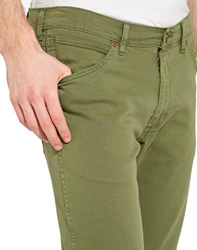 Wrangler Herren Jeans Greensboro Freewheelin Grün (Fairway Green 35)