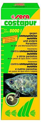 sera 02160 costapur F 500 ml - Arzneimittel für Zierfische gegen Ichthyophthirius multifiliis und andere einzellige Hautparasiten