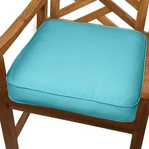Mozaic innen/außen gerippt Sitzkissen, 48,2 cm (19 Zoll), Aruba Blue