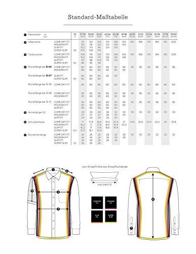Eterna - Comfort Fit - Herren Kurzarm Hemd mit Button Down Kragen in Blau kariert (8913 K143) Blau (16)