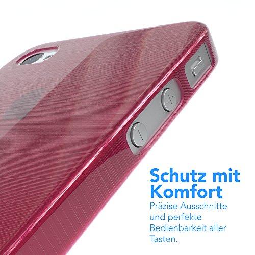 "EAZY CASE Handyhülle für Apple iPhone 4S, iPhone 4 Hülle - Premium Handy Schutzhülle Slimcover ""Clear"" - Transparentes Silikon Backcover in Klar / Durchsichtig Brushed Pink"