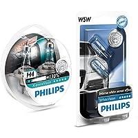Philips 12342XV+S2 - bombilla para coches (60W, H4, Halógeno) + Philips 12961NBVB2 bombilla para coche - bombilla para coches, 12V, 5W, Halógeno, 2 unidades