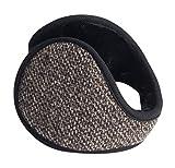 Calentadores de oído de invierno para hombres Fundas de oreja portátiles de felpa suave Patrón de...