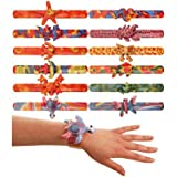 12 x ANIMAL SNAP BRACELET CHILDREN KIDS LOOT GOODY PARTY BAGS PINNATA FILLERS TOYS by Henbrandt