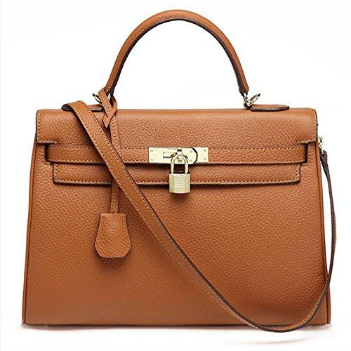 Macton , Damen Henkeltasche braun Brown 32CM (Handtaschen Gucci Classic)
