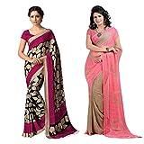 Fashion Fiza Silk Printed Combo Saree ( ...