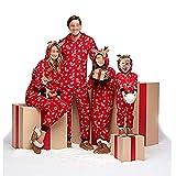 Pigiami Natale Famiglia di Compleanno, Indumenti da Notte Romper Costume Cotone Manica Lunga Abbigliamento Felpa Natale Invernale Primaver per Uomini Donne Bambini-Bebè