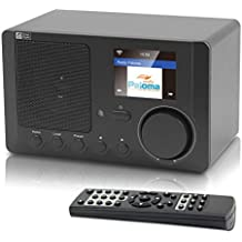 Ocean Digital Radio de Internet WR-210CB WiFi con Bluetooth Radio despertador inalámbrico Reproductor multimedia de música - Negro