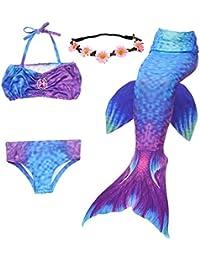 cf0e4a368 UrbanDesign Traje De Baño Disfraz Cola De Sirena Niña con Bikini para Nadar