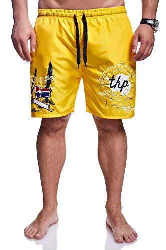 MT Styles Badeshorts ROUTE Shorts Badehose BA-6008 Gelb