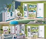 Jugendzimmer Kinderzimmer komplett THIAGO Set B Schrank Standregal Schreibtisch Wandregal Kommode NEU
