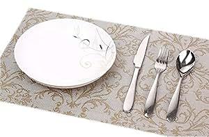 """Lot de 6 PVC Dinning Room/Facile à nettoyer/Tableau étanche Set 11.8x17.7 """""""