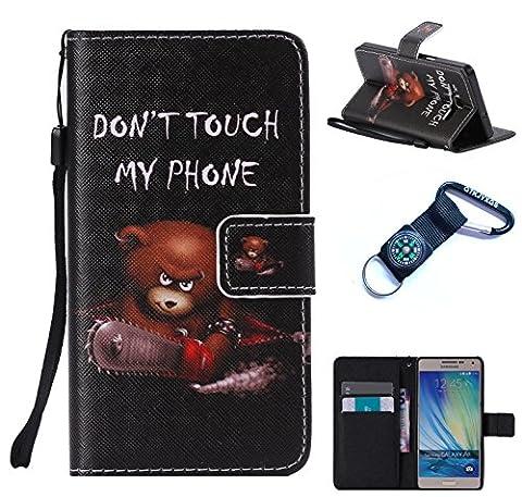 Coque pour Samsung Galaxy A5 (2015) Silicone PU Bumper Unique Design Souple PU Soft Cover Effacer Clair transparent Etui Housse Case (+Outdoor boussole trousseau)