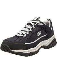 Skechers For Work 77013 flexible Stride Grinnel Slip acero RÃ © sistant Toe Work Shoe, Multicolor (Navy/Gray), US 11