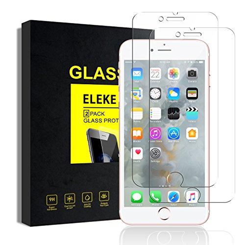 iPhone 6 6s Panzerglas Schutzfolie, [2 Stück] ELEKE iPhone 6 6s Explosionsgeschützte 9H Härte  2.5D Kanten Hoch lichtdurchlässig Displayschutzfolien (4.7 Zoll)
