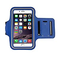 iphone 6s Armband (4.7Inch), Koly Running Sports Sweatproof Armband Gym Iphone 6/6s Arm Band Cover Case (Blue)