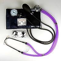 Valuemed esfigmomanómetro + Sprague Rappaport Estetoscopio, dispositivo médico, morado – Tensiómetro aneroide profesional pro