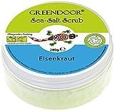 Greendoor Körperpeeling Sea Salt Scrub Eisenkraut, Körper-Peeling ohne Mikroplastik, Duschpeeling ohne Konservierungsmittel, 280g Naturkosmetik, Meer-Salz-Peeling, Body Scrub