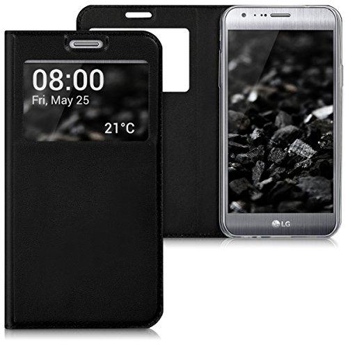 kwmobile LG X Cam Hülle - Handyhülle für LG X Cam - Handy Case Schutzhülle Klapphülle