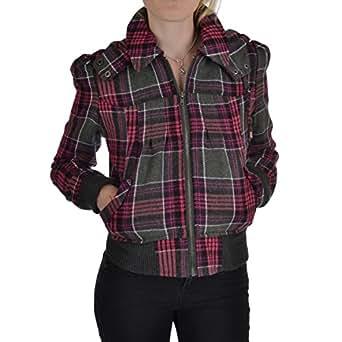 Miss Posh Womens Bomber Jacket - Pink/Black - 8