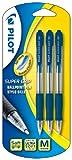 Pilot Supergrip Druckkugelschreiber, Blau, 3Stück