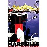 Plakat Poster Marseille Porte Afrika Nord Frankreich