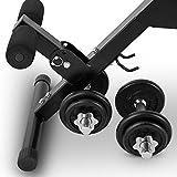 CAPITAL SPORTS Varient Hantelbank • Trainingsbank • Fitnessbank • inkl. Kurzhantel Set mit 20 kg • Sitzfläche: 4 Neigungswinkel • Curl-Stütze: 7-stufig • Fußfixierung: 3-stufig • Tragkraft: max. 160 kg • Kunstlederbezug • schwarzer Stahlrahmen - 4