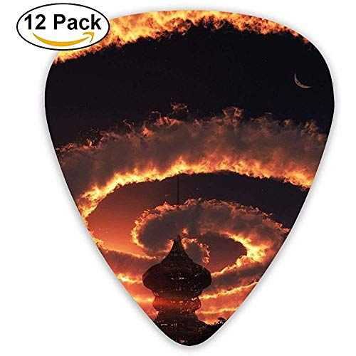 Sherly Yard 12er Pack Custom Guitar Picks Fantasy Cloud Bild Standard Bassgitarrist Musik Geschenke